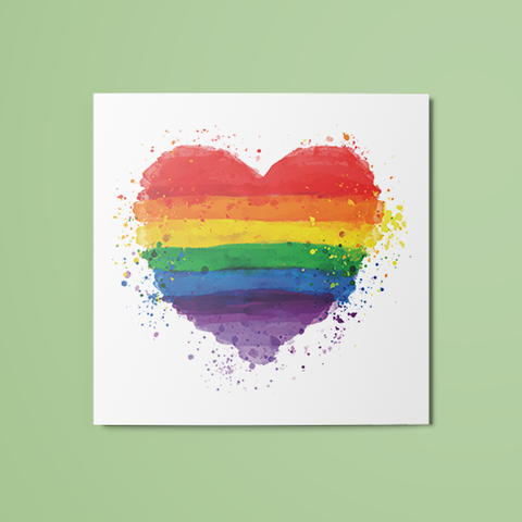 Pride Heart Temporary Tattoo
