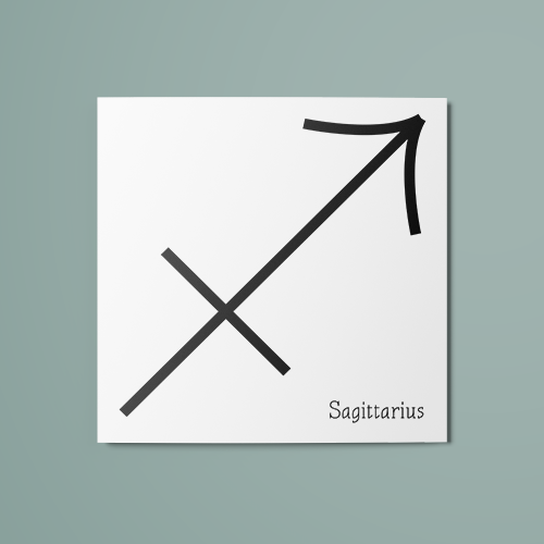 Sagittarius Symbol Temporary Tattoo