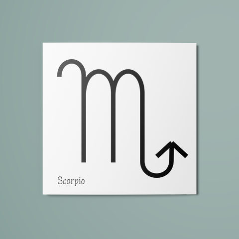 Scorpio Symbol Temporary Tattoo