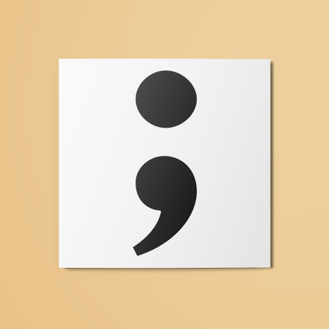 Semicolon Temporary Tattoo