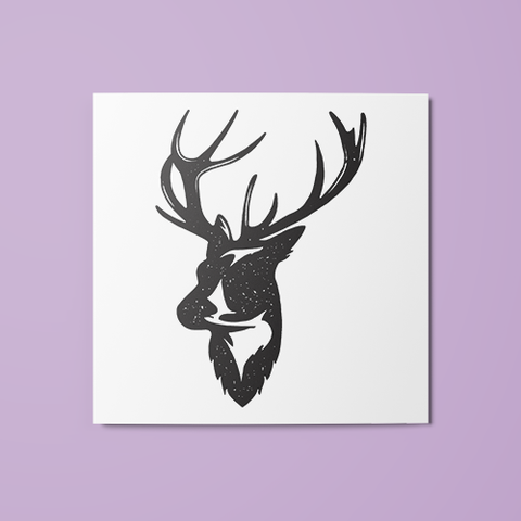 Stag Silhouette Temporary Tattoo