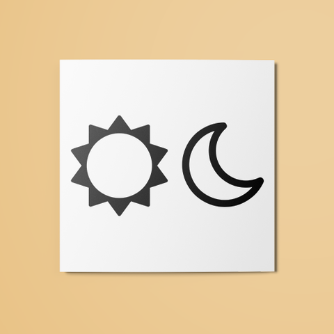 Sun & Moon Temporary Tattoo