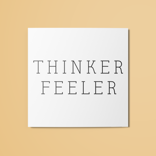 Thinker & Feeler Temporary Tattoo