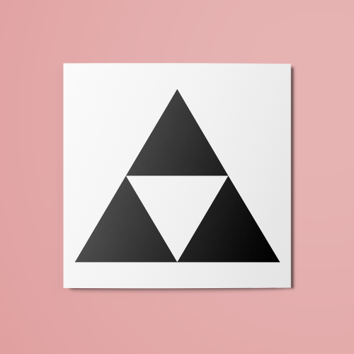 The Legend of Zelda - Triforce v1 Temporary Tattoo