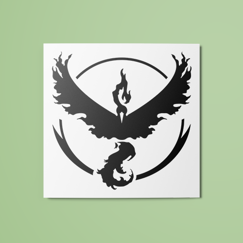 Pokemon - Team Valor (B&W) Temporary Tattoo