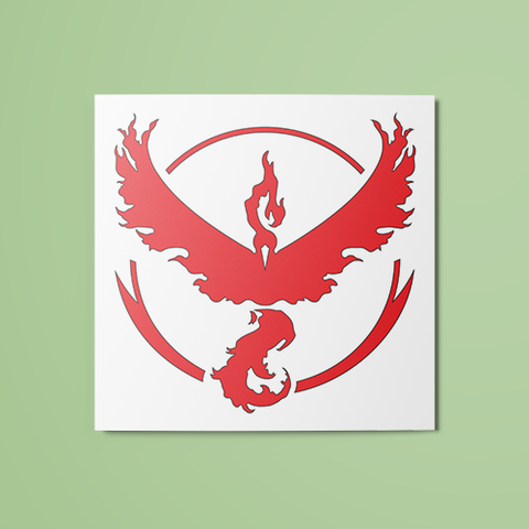 Pokemon - Team Valor (Colored) Temporary Tattoo
