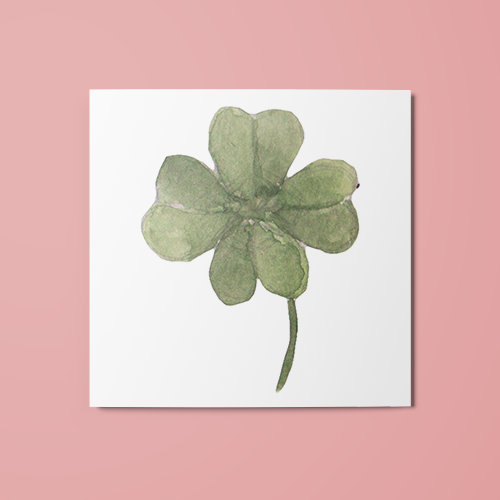 Watercolor Clover Temporary Tattoo