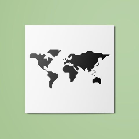 World Map (Filled) Temporary Tattoo