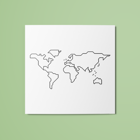 World Map (Outline) Temporary Tattoo