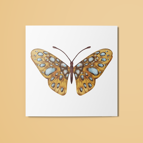 Yellow Moth Temporary Tattoo