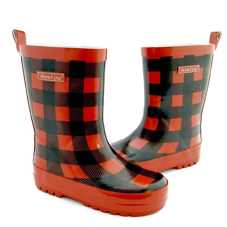 Piper and Ike Gumboot - PLAID