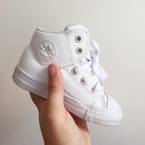777c7f665a4131 CONVERSE Toddler All Star Leather NTTL - WHITE – Tribal Runner