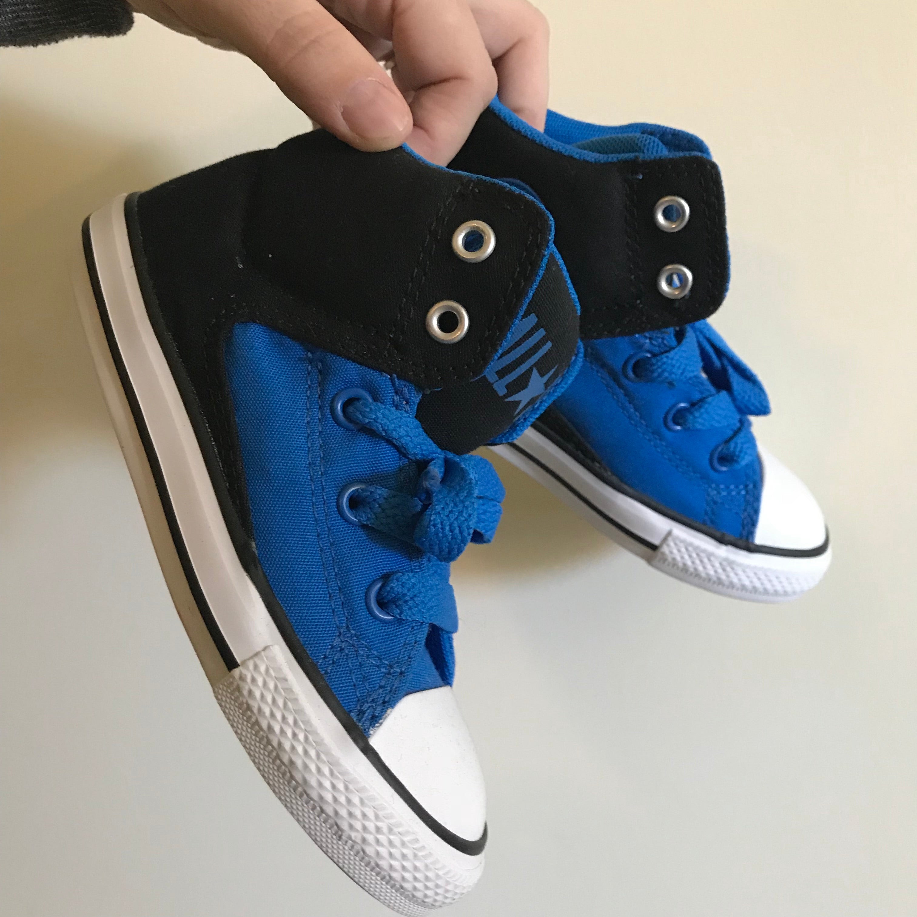 CONVERSE Toddler Mid Cab NTTL - Black/Blue