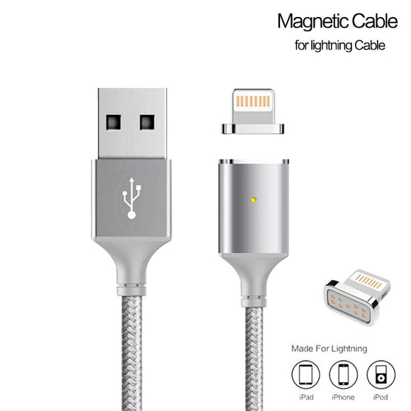 Magnetic charging and data cable for iPhone 5, 5s, 6, 6s, 7