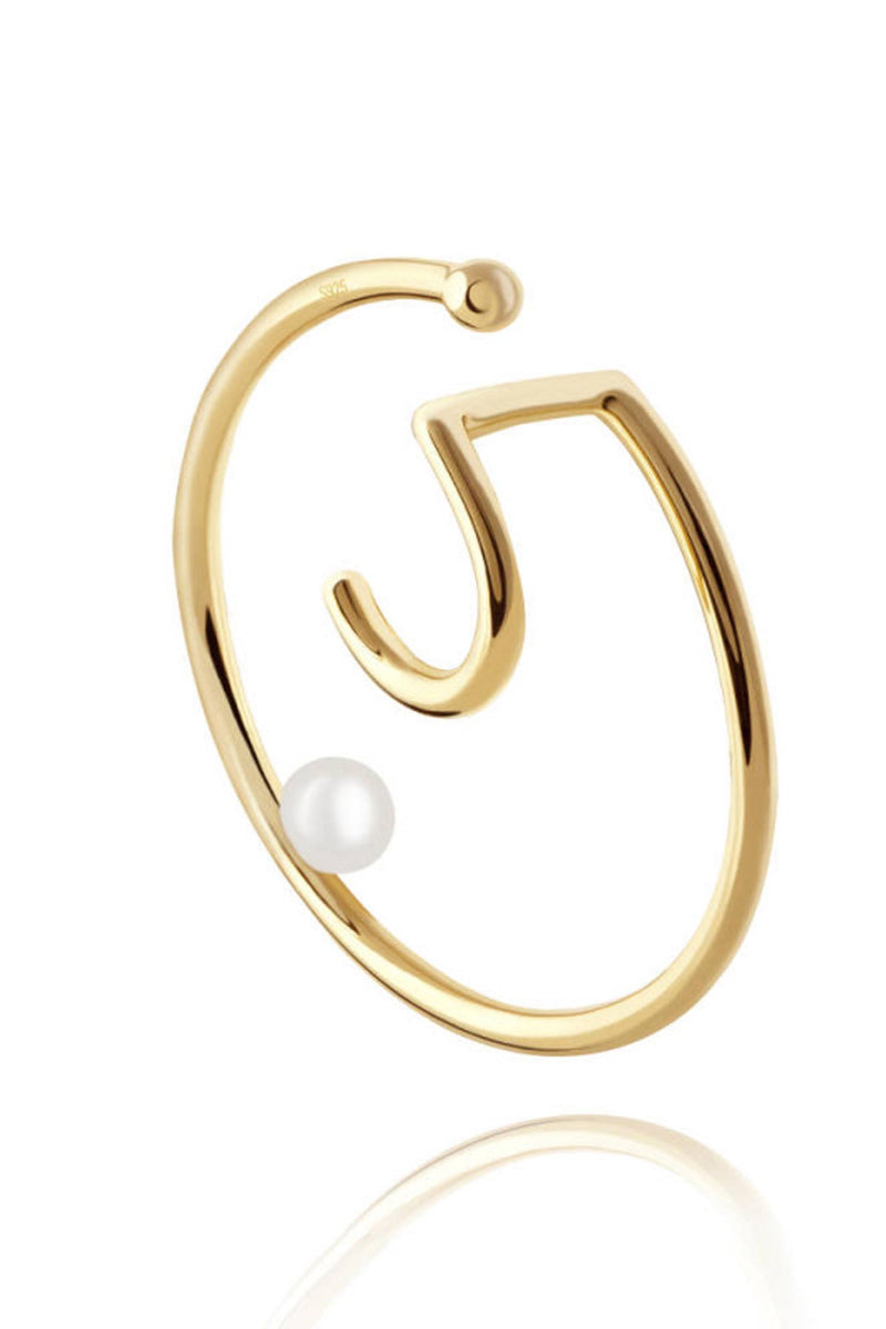 Pearl Spiral Single Ear Cuff