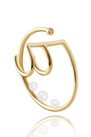 Pearl Spiral Double Ear Cuff