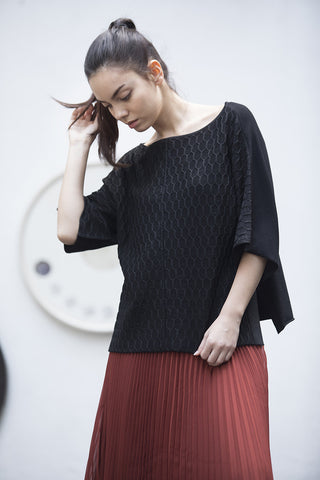 SIBILLE Honeycomb Knit Top