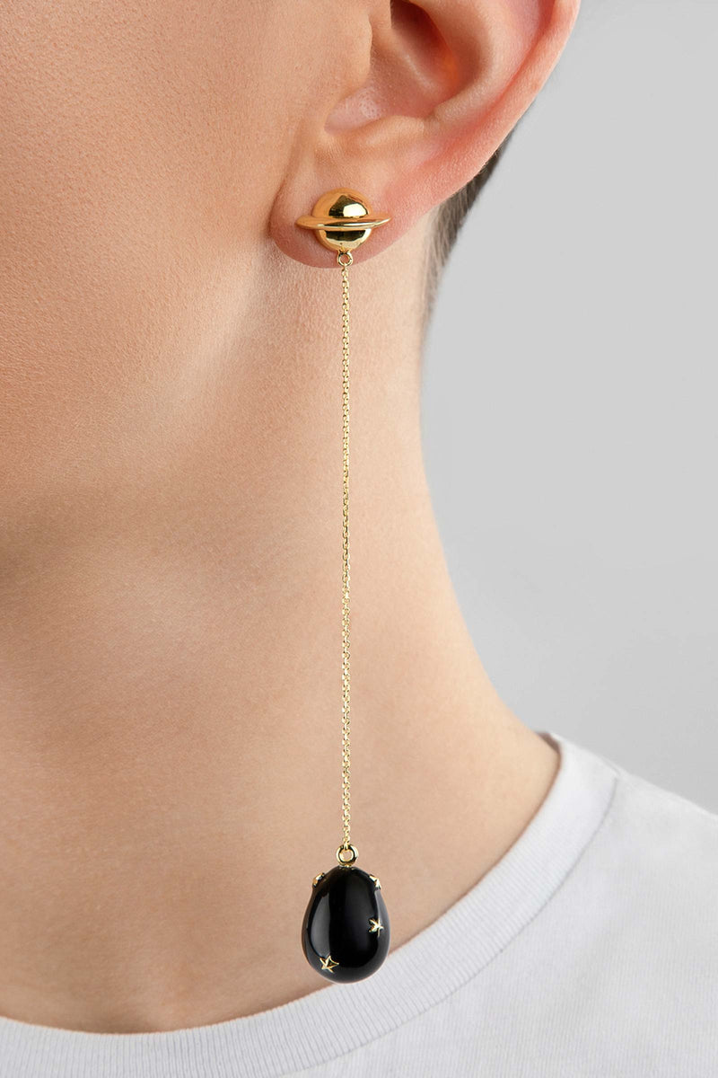 Chain Enamel Drop Earrings