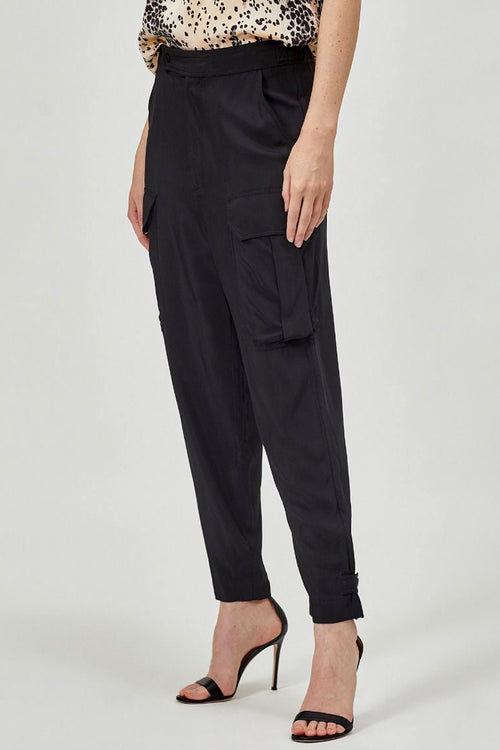 AGADIRE Viscose Tapered Cargo Pants