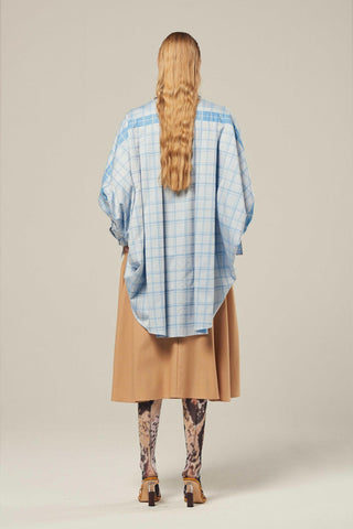 STREEP Check Cotton Poplin Oversized Shirt