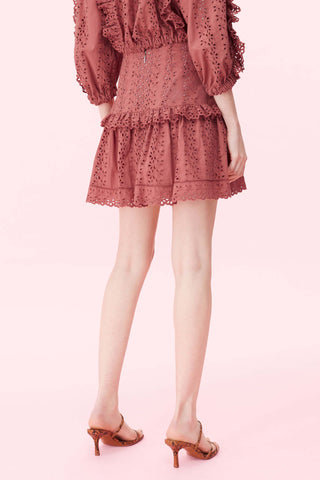 KARINA Eyelet Embroidery Cotton Skirt