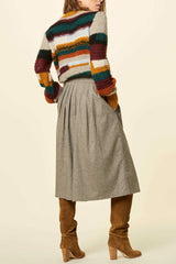 MISS LIZZY Wool-Blended Culottes