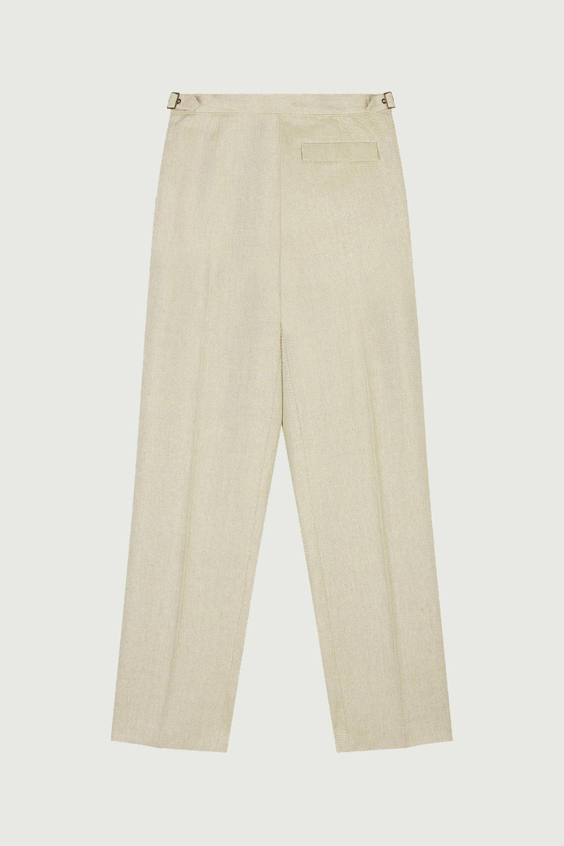 MARIO Wide-Leg Linen Trousers