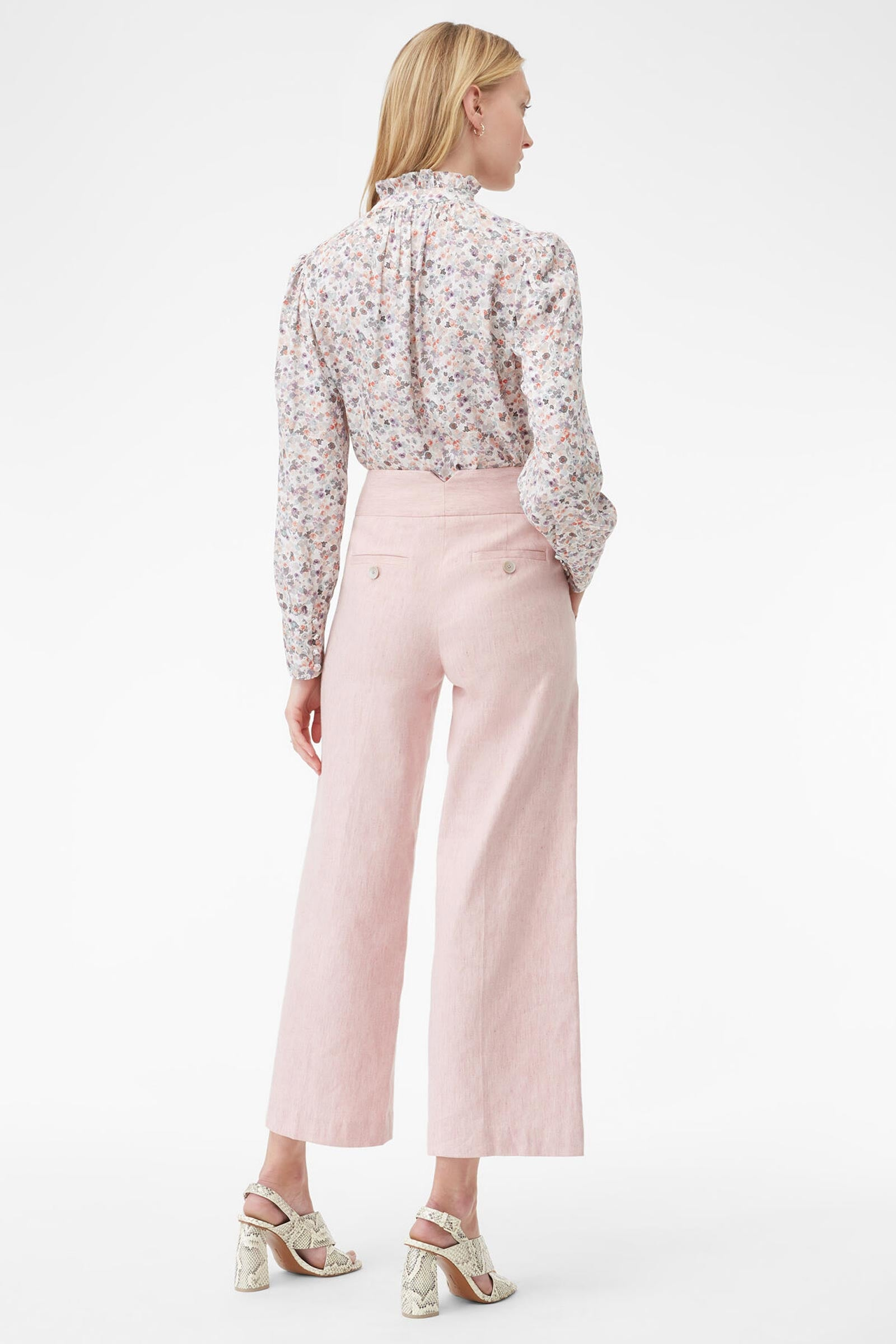 TAILORED | Slub Suiting Straight-Leg Trousers