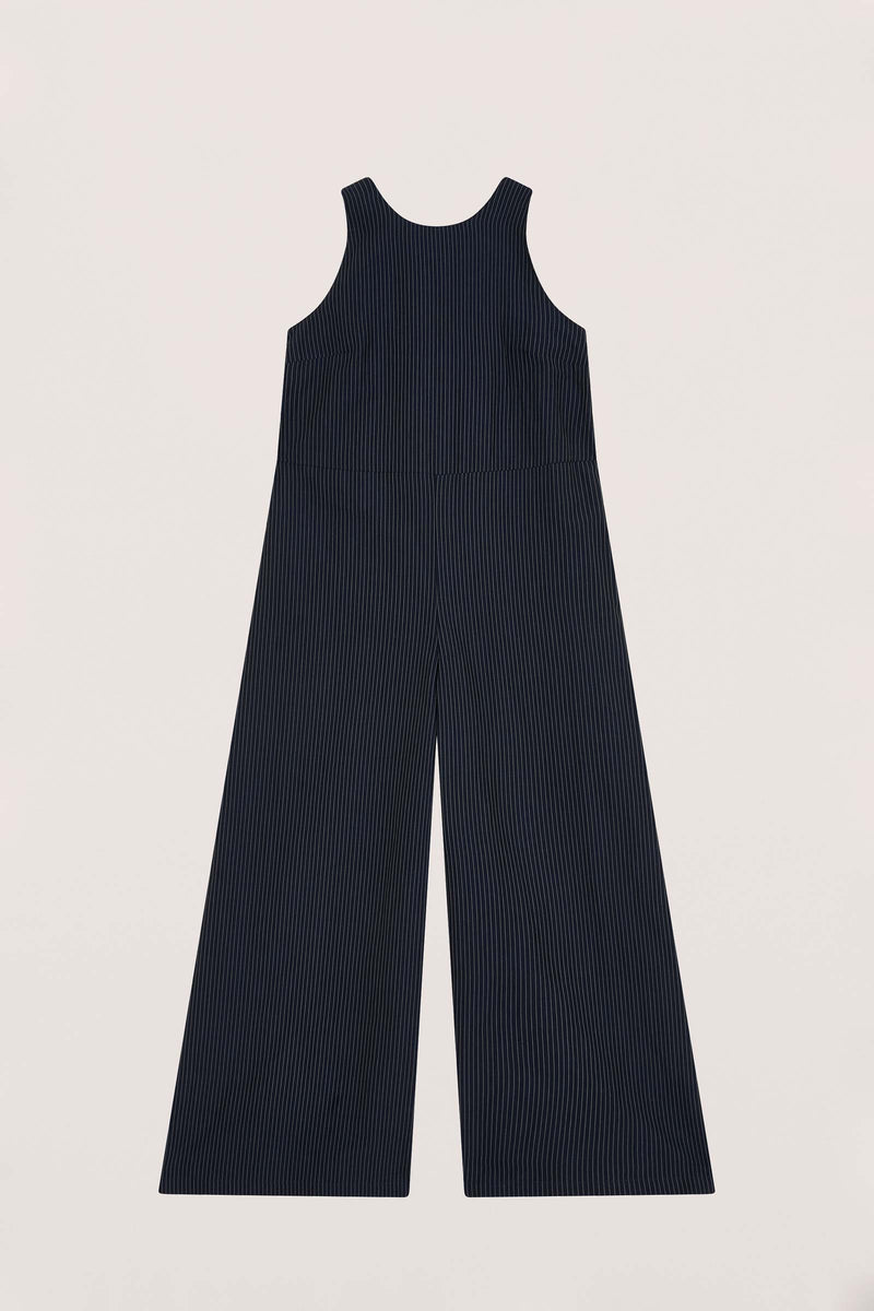 ZIGGY Stripe cotton-Blended Jumpsuit