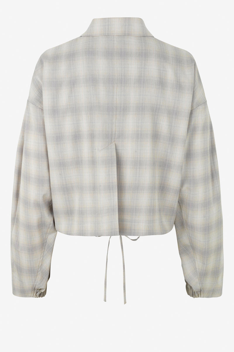 BRYCE Check Lightweight Cropped Jacket