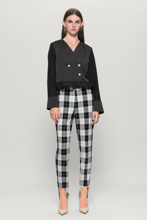 NALEEN Check Stirrup Trouser