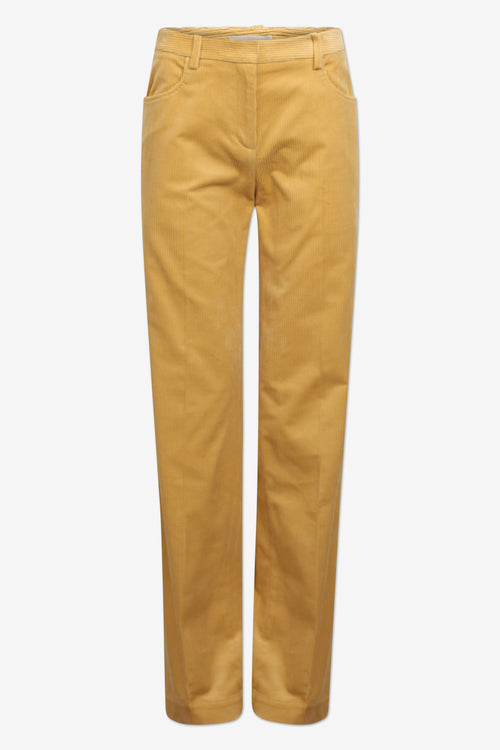 NOYA Corduroy Straight-Leg Trousers