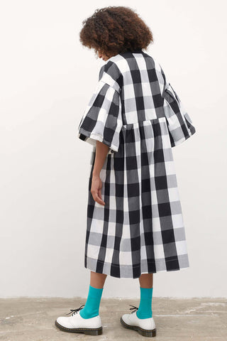 YOSHI Check Organic Cotton Poplin Dress