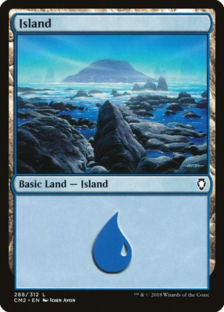 Island (288) [Commander Anthology Volume II] | Grey Ogre Games