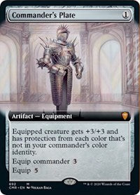 Commander's Plate (Extended Art) [Commander Legends] | Grey Ogre Games