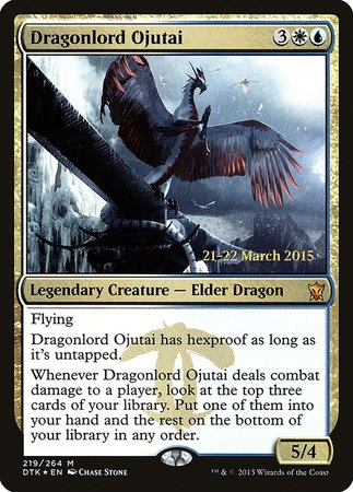 Dragonlord Ojutai [Dragons of Tarkir Promos] | Grey Ogre Games