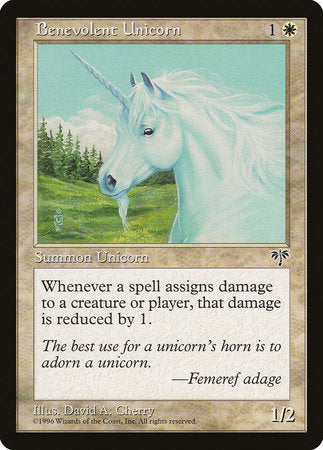 Benevolent Unicorn [Mirage] | Grey Ogre Games