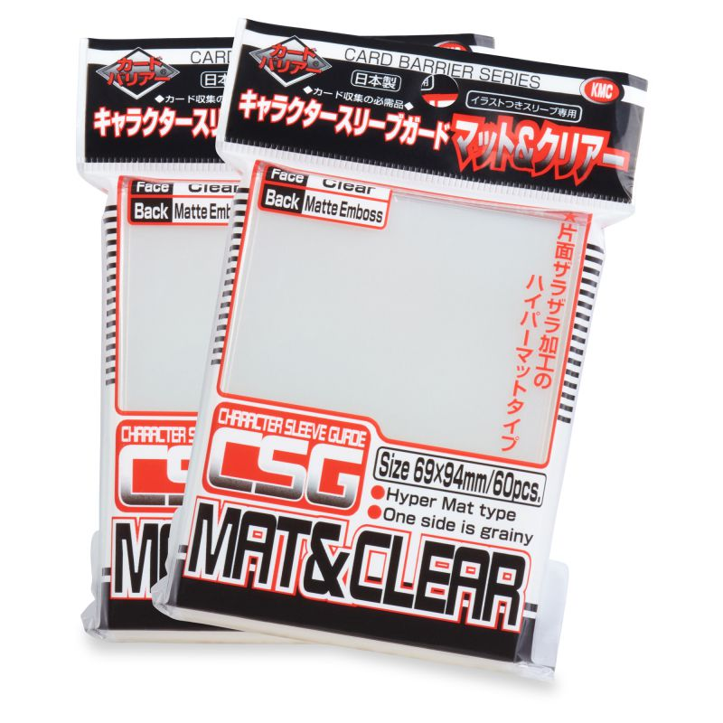KMC Character Sleeve Guard Matte Clear | Grey Ogre Games