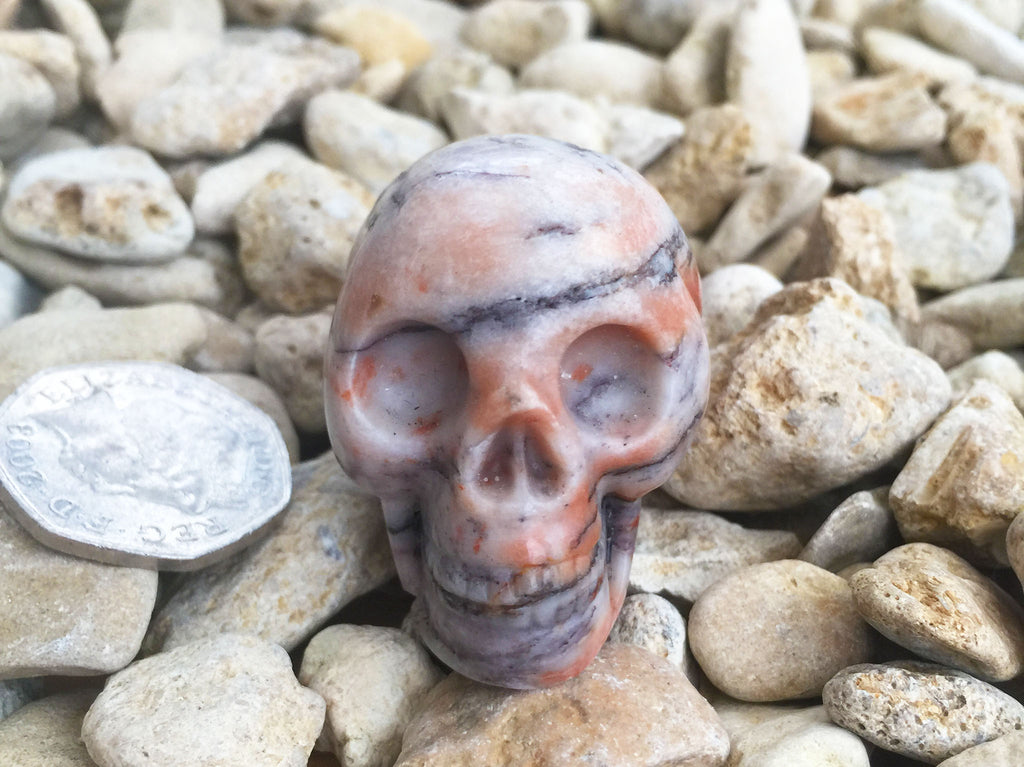 Autumn Jasper Crystal Skull 2""