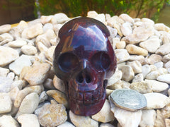 Chinese Bloodstone Crystal Skull 3""