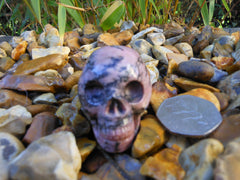 Rhodonite Crystal Skull 2""