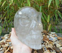 Smoky Quartz Alien Skull 8""