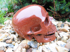 Goldstone Singing Skull 5""
