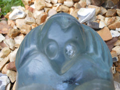 Ancient Blue Bat Crystal Skull 5""