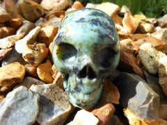 African Turquoise Skull 2""
