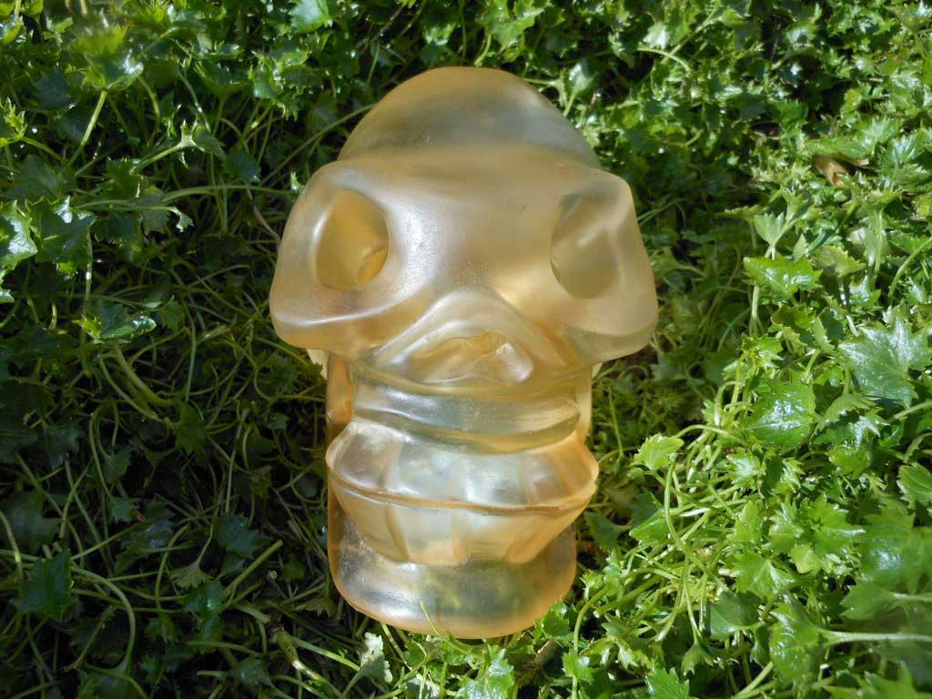 Golden Crystal Skull 6""
