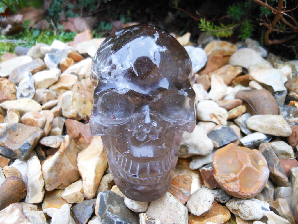 Smoky Quartz Crystal Skull 3.25""