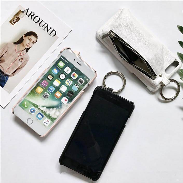 Litchi Leather Wallet Phone Case