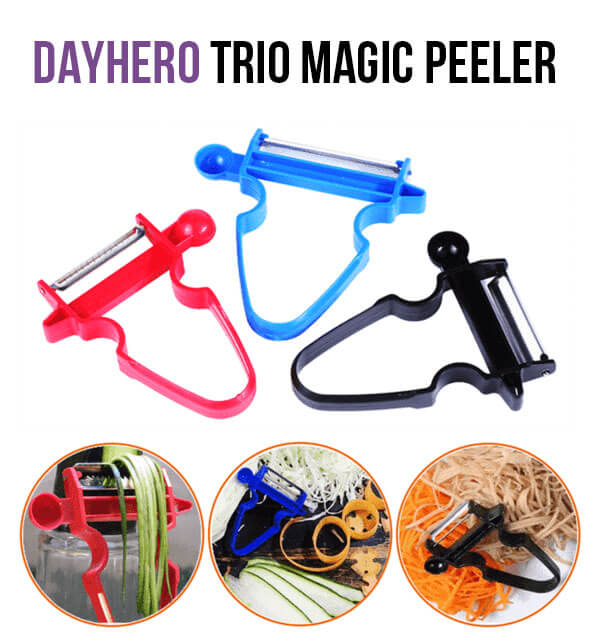 DayHero Magic Trio Peeler [2018 BestSeller, 57% OFF Promotion]