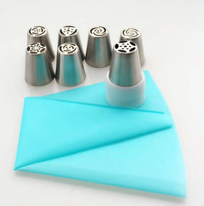 Russian Piping Tip Nozzles Set [7 Pieces + FREE Gift]